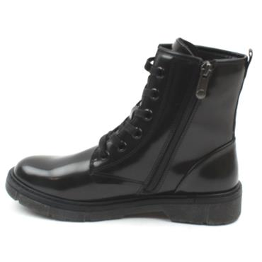 MARCO TOZZI 25282 LACED BOOT - BLACK PATENT