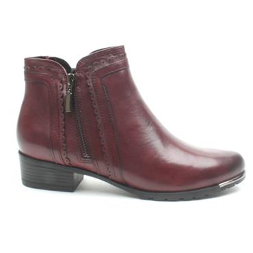 CAPRICE 25312 ANKLE BOOT - BURGUNDY