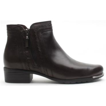 CAPRICE 25312 ANKLE BOOT - DARK BROWN