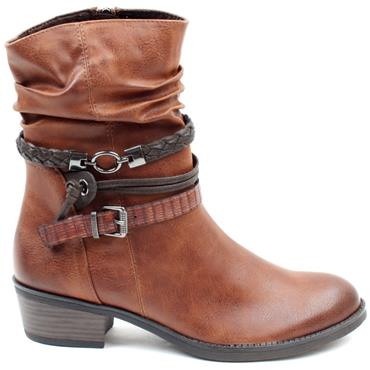 MARCO TOZZI 25316 SLOUCH BOOT - CHESTNUT