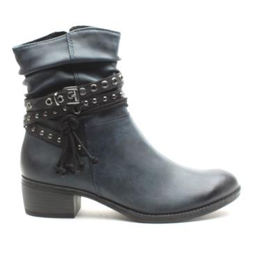 MARCO TOZZI 25316 ANKLE BOOT - NAVY