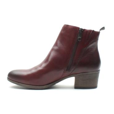 MARCO TOZZI 25320 LOW HEEL BOOT - BURGUNDY