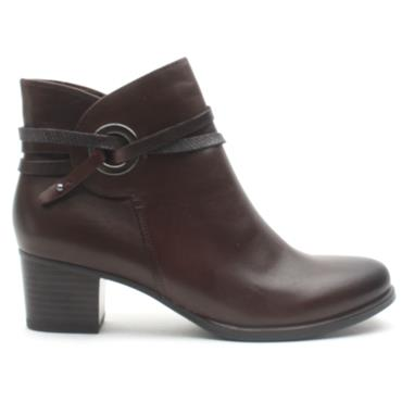 CAPRICE 25326 ANKLE BOOT - DARK BROWN