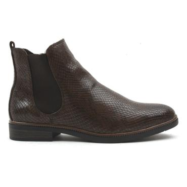 MARCO TOZZI 25331 GUSSET BOOT - BROWN SNAKE