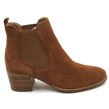 TAMARIS 25342 ANKLE BOOT - TAN/SUEDE