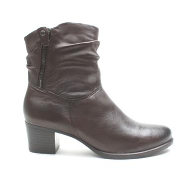 CAPRICE 25347 ANKLE BOOT - DARK BROWN