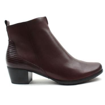 MARCO TOZZI 25369 ANKLE BOOT - BURGUNDY