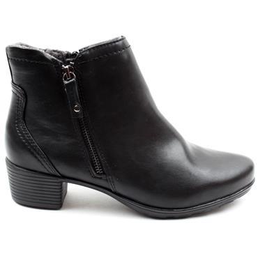 JANA 25373 LOW HEEL BOOT BLACK - Black