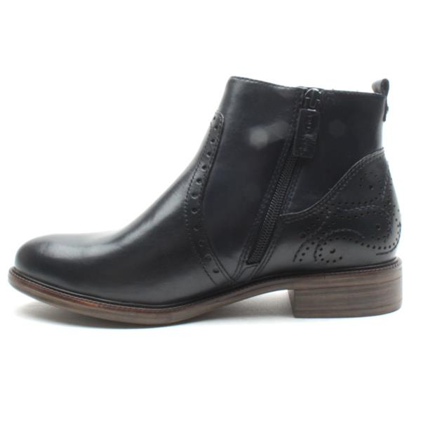 best website 85ac4 bfae0 Tamaris 25397 Flat Ankle Boot - Navy