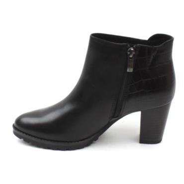 CAPRICE G FIT HEELED BOOT - Black