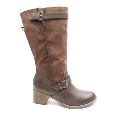 SOLIVER 25508 BUCKLE KNEE HIGH BOOT - BROWN