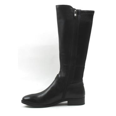 CAPRICE 25509 KNEE HIGH FLAT BOOT - Black
