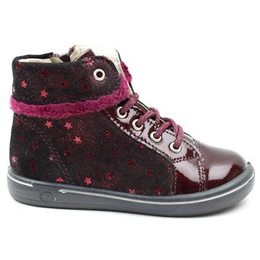 RICOSTA 2624700 LACED BOOT - BURGUNDY