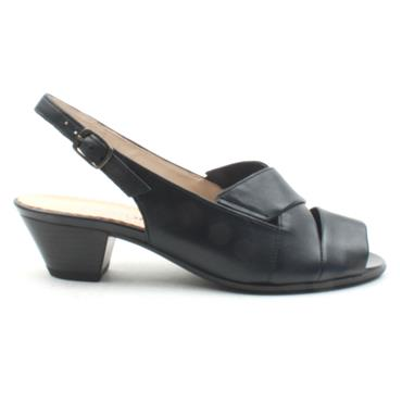 GABOR 26571 LOW HEEL SANDAL - NAVY LEATHER