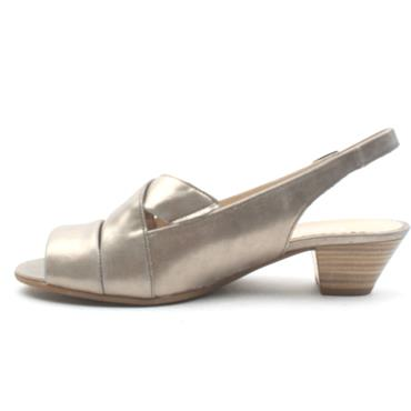 GABOR 26571 LOW HEEL SANDAL - PEWTER