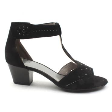JANA  28362 STRAP SHOE - Black