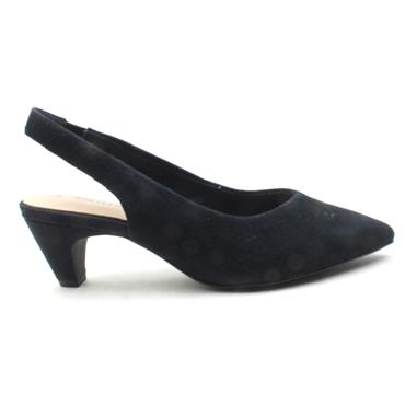 TAMARIS 29502 SLING BACK SHOE - NAVY SUEDE