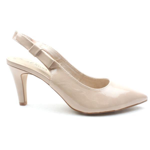 buy online 93629 8bf15 Soliver 29601 Sling Back Shoe - Nude Patent