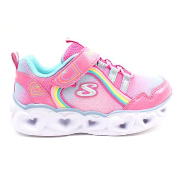 SKECHERS 302308N RAINBOW LUX RUNNER - PINK MULTI