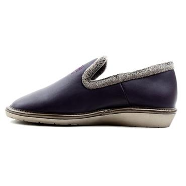 NORDIKA 305LEATHER SLIPPER - PURPLE/GREY