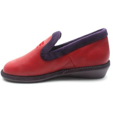 NORDIKA 305LEATHER SLIPPER - RED