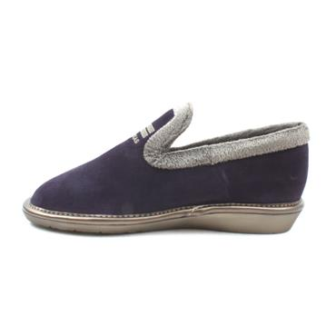 NORDIKA 305 SUEDE SLIPPER - PURPLE/GREY