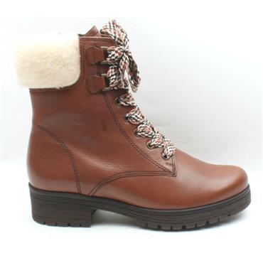 GABOR 32095 LACED BOOT - Tan