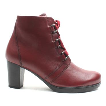 GABOR 32866 LACED ANKLE BOOT - RED