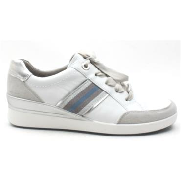 ARA 33354 LACED SHOE - WHITE SILVER