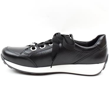 JENNY 34587 LACED SHOE - BLACK/WHITE