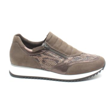 GABOR 36332 ZIP CASUAL SHOE - TAUPE