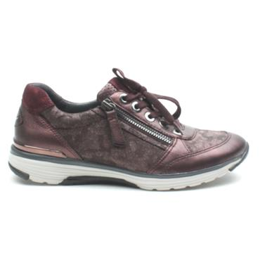 GABOR 36973 LACED CASUAL SHOE - BURGUNDY