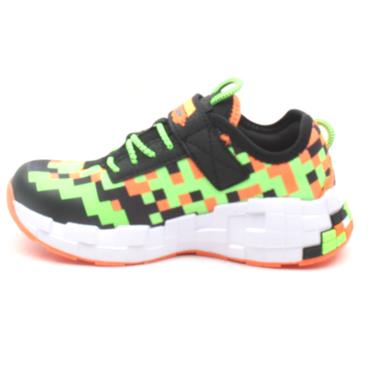 SKECHERS 400000L JUNIOR RUNNER - BLACK ORANGE
