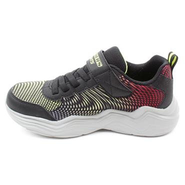 SKECHERS 400125L ERUPTERS RUNNER - BLACK GREEN