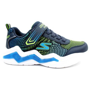 SKECHERS 400125L ERUPTERS RUNNER - NAVY GREEN