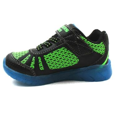 SKECHERS 401520N JUNIOR RUNNER - BLACK/LIME