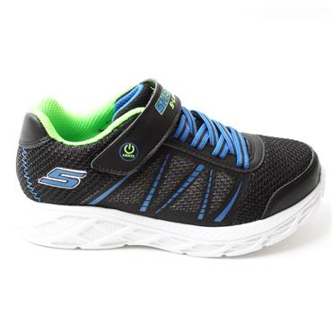 SKECHERS 401530L JUNIOR RUNNER - BLACK BLUE