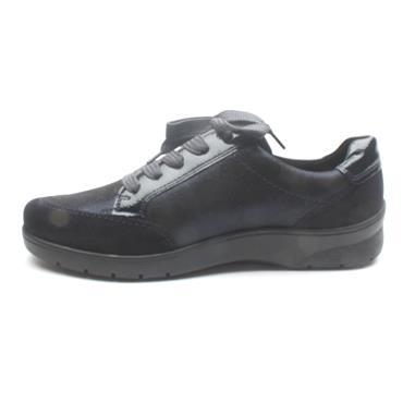 ARA 41050 LACED/ZIP H FIT SHOE - BLACK/BROWN