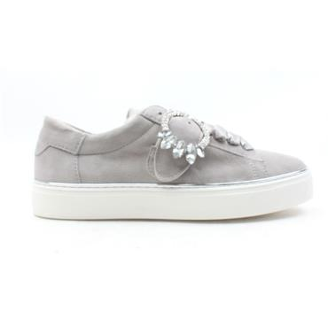 ALPE 4108 LACE SHOE - GREY SUEDE