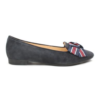 GABOR 41301 BOW FLAT SHOE - NAVY