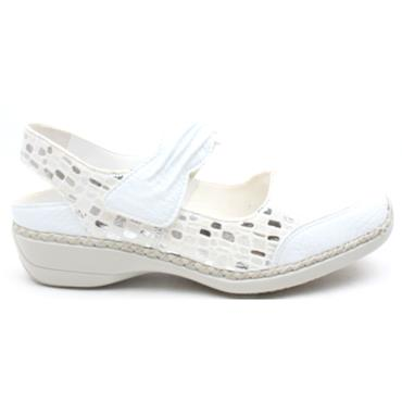 RIEKER 41379 VELCRO SHOE - WHITE MULTI