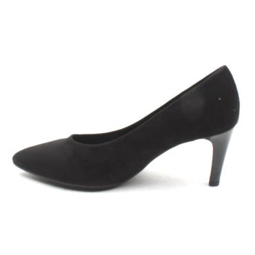 GABOR 41380 COURT SHOE - BLACK SUEDE