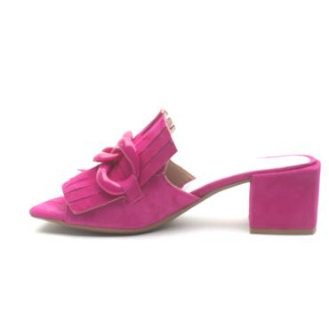 ALPE 4141 BLOCK HEEL MULE - Pink Suede