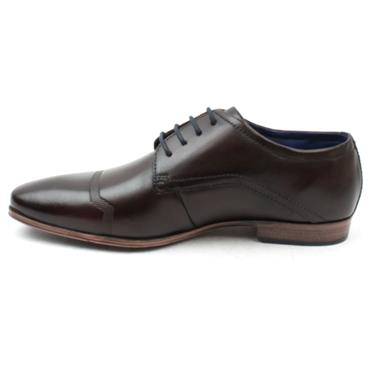 BUGATTI 4201O LACED SHOE - DARK BROWN
