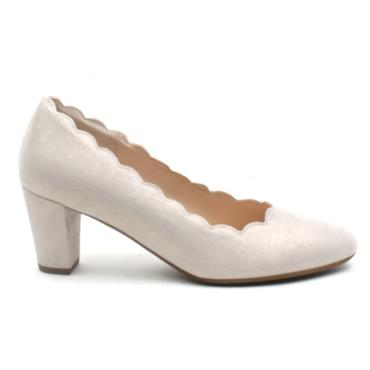 GABOR 42151 COURT SHOE - BEIGE MULTI