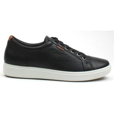 ECCO LACED 430003 SHOE SOFT VII - Black
