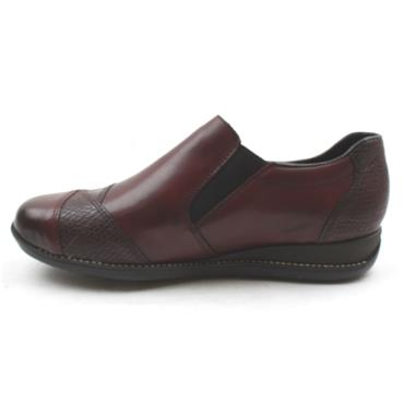 RIEKER 44251 TEX SLIP ON SHOE - WINE