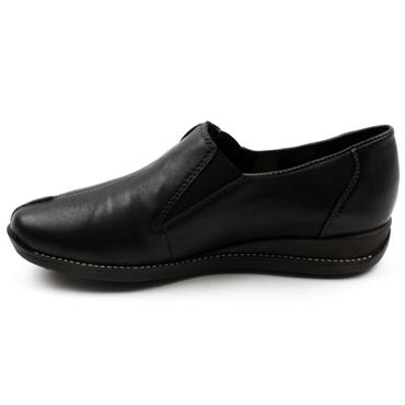 RIEKER 44253 SLIP ON SHOE - BLACK/BLACK