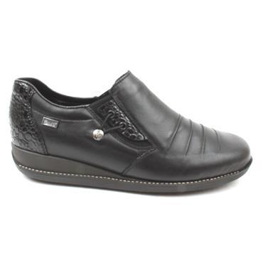 RIEKER 44254 SLIP ON SHOE - BLACK/GREY