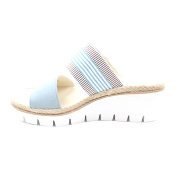 GABOR 44630 WEDGE MULE - AQUA